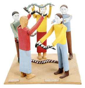 Fred Webster Carving Scene