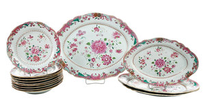 Set 14 Pieces Famille Rose Porcelain