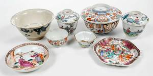 Eight Chinese Porcelain Objects, Qianlong, Ming
