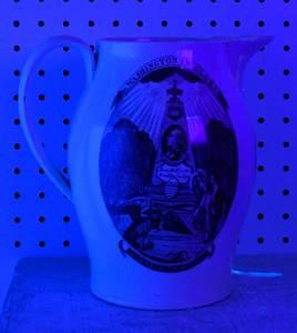 George Washington Liverpool Creamware Pitcher
