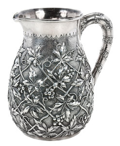 Repousse Sterling Pitcher