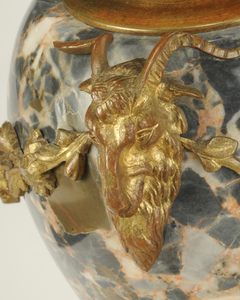 Pair Napoleon III Style Marble and Bronze Urns