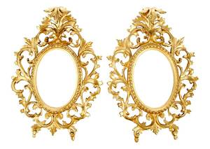 Pair of Florentine Gilt Wood Frames