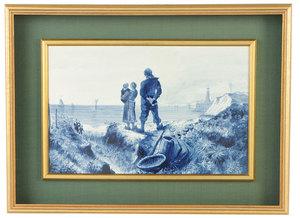 Framed Villeroy & Boch Porcelain Plaque