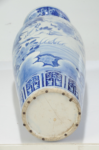 Two Blue and White Chinese Floor Vases