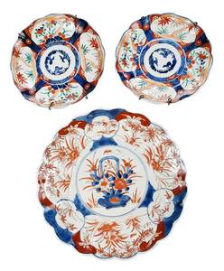 Three Imari Decorated Plates
