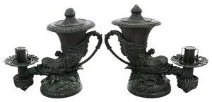 Pair Johnston Brookes Cornucopia Argand Lamps