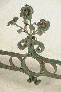Marble Top Wrought Iron Garden Table