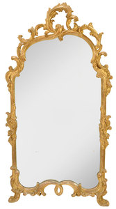 Rococo Style Carved and Gilt Wood Mirror