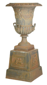 Large Cast Iron Garden Urn