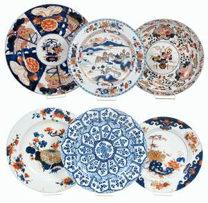 Six Chinese Export Porcelain Chargers, Kraakware
