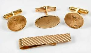 Three 14kt. Gold Gentleman's Pieces