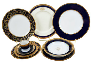 Assembled Set Gilt Decorated China, 151 Pieces