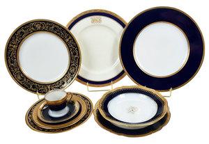 Assembled Set Gilt Decorated China, 151 Pieces