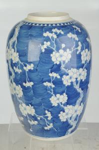 Blue and White Prunus Blossom Ginger Jar