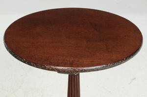 George III Carved Mahogany Tea Table