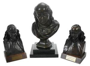 Three Bronze Busts