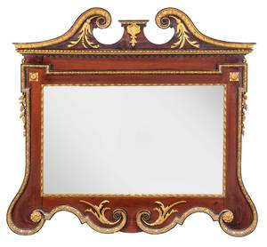 Chippendale Style Mahogany Parcel Gilt Mirror