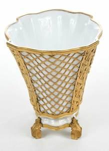 Ormulu Mounted Berlin Porcelain Cache Pot