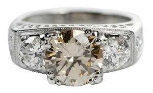 Platinum Fancy Colored Diamond Ring