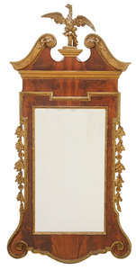 Chippendale Style Parcel-Gilt Mirror