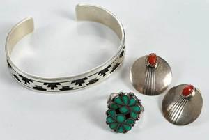 Three Pieces Southwestern Jewelry