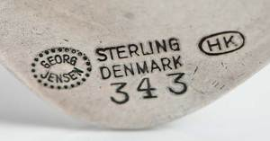 Georg Jensen Sterling Brooch