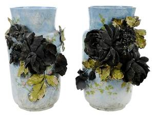 Pair French Art Pottery Vases