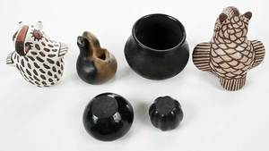 Six Miniature Pieces Southwestern Pottery