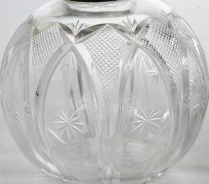 Three Cut Glass Perfumes, English Silver Caps