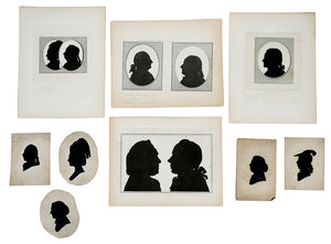 Group Steel Engraved and Cut Out Silhouettes