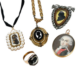 Five Pieces Antique Jewelry