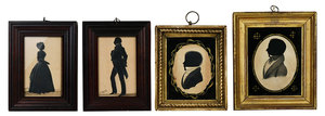 Four American Silhouette Portraits