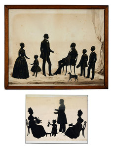 Two Family Group Silhouettes