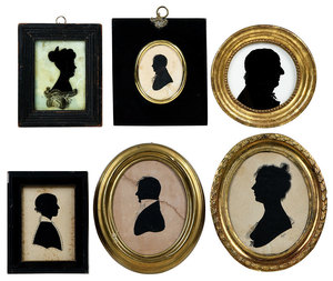Six American Silhouette Portraits