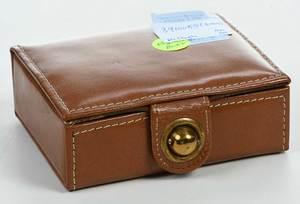 Three Pairs Cufflinks, Leather Box