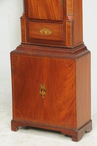 George III Inlaid Mahogany Tall Case Clock