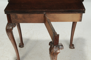 George III Carved Mahogany Games Table