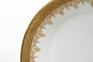 Gilt Chelsea Porcelain Covered Bowl and Bowl
