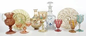 10 Pieces Venetian Glass