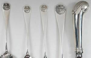 Williamsburg Shell Sterling Flatware, 37 pieces