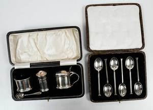 31 English Silver Table Items