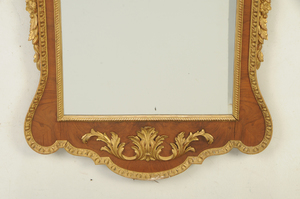 George II Style Parcel-Gilt Walnut Mirror