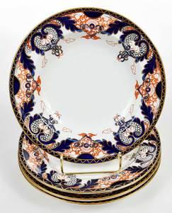 Set Four Crown Derby Porcelain Imari Bowls