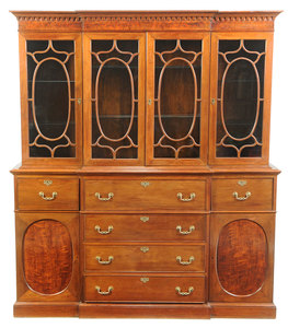 Chippendale Style Mahogany Breakfront