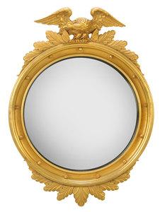 Federal Style Parcel-Gilt Convex Mirror