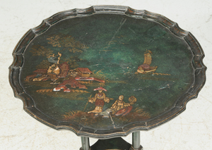 Chippendale Style Chinoiserie Side Table