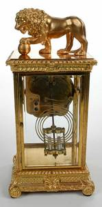 Seth Thomas Empire Style Gilt Bronze Clock