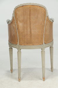 Louis XVI Style Painted and Caned Fauteuil