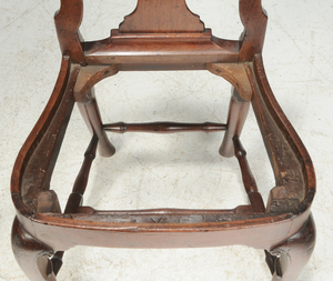 Pair Queen Anne Walnut Side Chairs